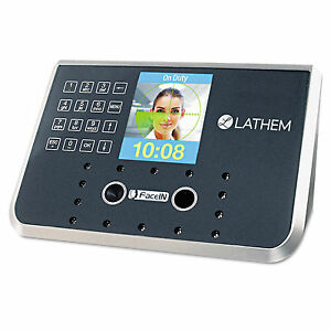 Lathem Time Face Recognition Time Clock System 500 Employees Gray 7 1 4 X 3