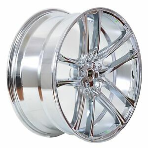 4 Gwg Wheels 20 Inch Chrome Zero Rims Fits 5x114 3 Et35 Ford Mustang 2005 2014