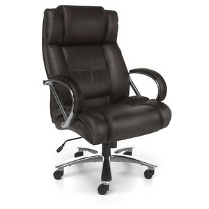 Big And Tall Brown Leather Chair
