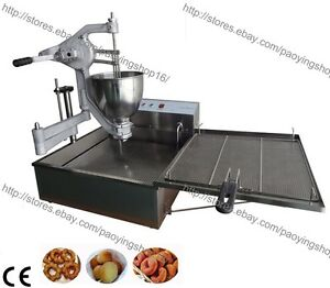 Heavy Duty Manual Doughnut Hole Donut Ball Maker Machine Fryer With 3 Mold