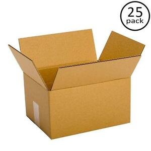25 Pack 15 X 12 X 6 Boxes Corrugated Cartons Shipping Box 200 32 Ect