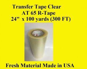 Transfer Tape Clear 1 Roll 24 X 300 Ft Made In Usa
