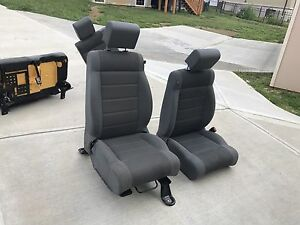 2007 2015 Jeep Wrangler Unlimited Sahara Gray Cloth Front Rear Seats 4 Door