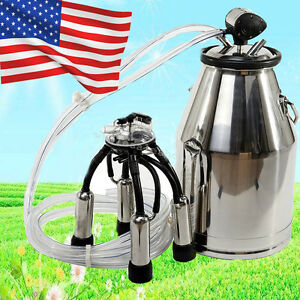 us cows Milker Portable Milking Machine Barrel Stainless Bucket Large Capacity