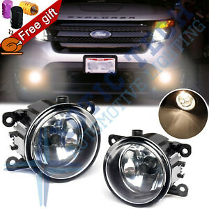 2x Fog Light Lamps With H11 Bulbs Driver Passenger Side For Ford Explorer Fusion