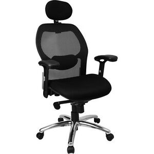 Flash Furniture Super mesh Office Chair With Arms And Headrest Black