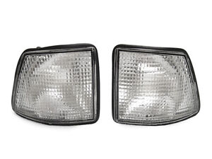 Depo Euro Clear Corner Signal Lights Pair For 1988 1994 Bmw E32 7 Series