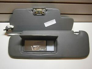 1999 Toyota Land Cruiser Sun Visor Drivers Side Lighted Covered Mirror Gray