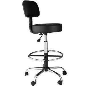 Comfort Products Medical drafting Stool With Back Cushion