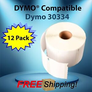 12 Roll Adhesive Labeling Waterproof 1000 Label Per Roll Dymo Compatible 30334