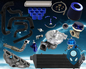Honda B series Turbo Kit Bolt on For Civic Blue Ice Style Manifold Downpipe