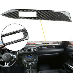 Car Interior Trim Carbon Fiber Center Console Panel Sticker For 2015 18 Mustang
