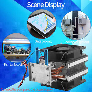 12v Thermoelectric Peltier Semiconductor Refrigeration Water Cooling System Fan