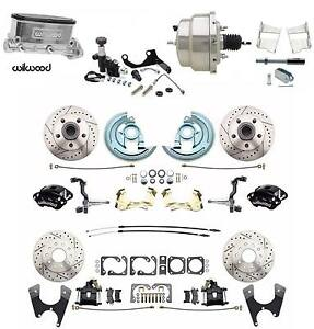 1964 1972 Gm A Body Wilwood Front Rear Disc Brake Kit Chrome Booster Conversion