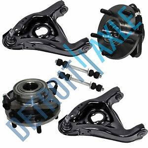 6pc Wheel Bearing Control Arm Sway Bar Kit For Chevy Blazer Jimmy 5 Lug Abs 2wd