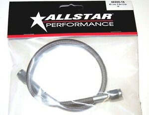 Braided Stainless Steel Brake Line Hose 15 3 An Straight End 15 Inch Length