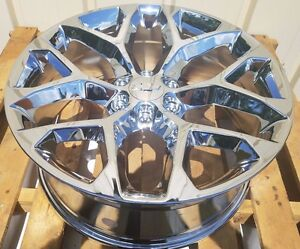 Chevy Tahoe Silverado Wheels Avalanche Suburban 1500 22 2014 2015 2016 2017 New