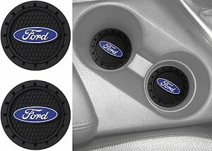 2 Plasticolor 000651r01 Ford Oval Cup Holder Coaster Universal New Free Ship