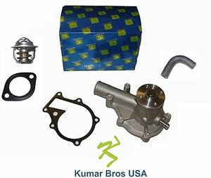 New Kubota D1105 Water Pump With Return Hose Thermostat