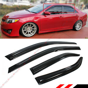 For 2012 2014 Toyota Camry Jdm Wavy 3d Wavy Door Window Visor Vent Rain Guard