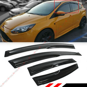 For 12 18 Ford Focus 4 Door Hatchback St Wavy 3d Style Smoke Window Visor Shade