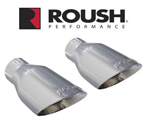2015 2017 Ford Mustang Roush Chrome 4 0 Exhaust Tips For 421834 421837 Kits