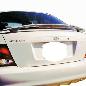 New Unpainted Primer Rear Spoiler For 2000 2002 Hyundai Accent 2dr W 3rd Light