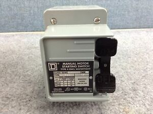Square D Motor Starting Switch Water Tight Enclosure Class 2510 Type Kw1 55471