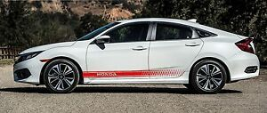 Honda 2x Body Decals Vinyl Graphics Racing Stickers Accord Civic Cr v