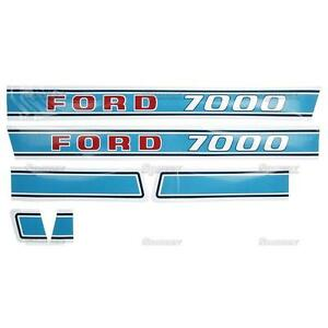 New Ford 7000 Decal Set