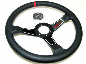 Sparco Steering Wheel L575 350mm 63mm Dish leather Red Stripe Dished