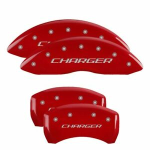 Mgp Caliper Brake Covers For Dodge 2006 2010 Charger Red Paint 12005schbrd