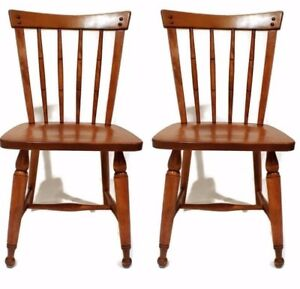 Beautiful Pair 1950 S Ethan Allen Accent Chairs
