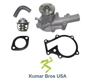 New Kubota Bx2200d 1w0001 Water Pump With Return Hose Thermostat