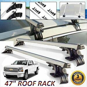 For Chevrolet Silverado Car Top Luggage Cross Bar Roof Rack Carrier 3 Kind Clamp