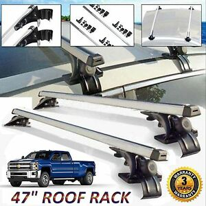2 Car Van Top Luggage Cross Bar Roof Rack Carrier Skidproof For Chevy Silverado