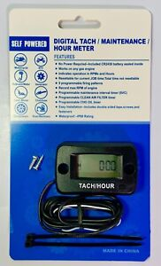 Tachometer Tach Hour Meter Monitor Engine Run Time Max Rpm Universal All Engine