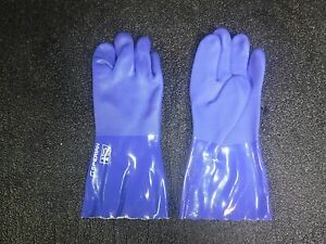 lot Of 12 Sperian Powercoat 660 12in Pvc Work Gloves zj