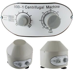 110 v Electric Centrifuge Machine Variable Speed Durable Lightweight White New