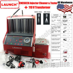 Launch Cnc602a Automotive Ultrasonic Injector Cleaner tester 110v Transformer