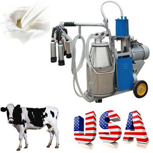 Usa Large Electric Milking Machine Milker For Farm Cow Milk 25l Piston Pump Easy