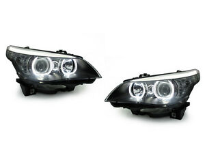 Depo V3 Led U Ring White Angel Halo Headlight For 2004 10 Bmw E60 e61 5 Series
