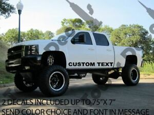 Custom Text Color Door Runner Decal For Trucks Chevy Ford Toyota Nissan Gmc All