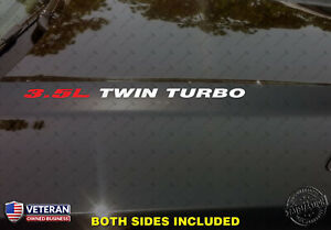 3 5l Twin Turbo Hood Vinyl Decals Stickers Fits Ford F150 Mustang Ecoboost V6