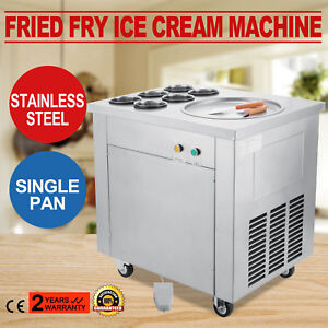 Commercial Fried Ice Cream Machine Ice Crean Roll Making Machine 740w 110v