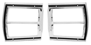 69 Dart Tail Lamp Bezels sold As A Pair