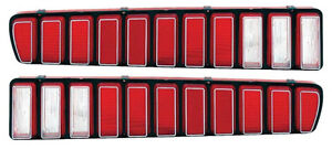 73 74 Charger Tail Lamp Lenses With Silver Accent
