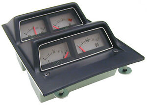 1968 69 Camaro Console Gauge Assembly With Low Fuel Warning