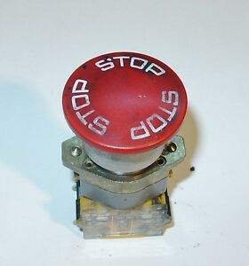 A B Dick Printing Press Parts 9870 9865 9869 Emergency Stop Switch 253475