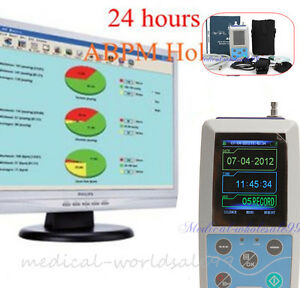 Abpm Ambulatory Blood Pressure Monitoring 24h Bpm Measure Holter 3 Cuff contec